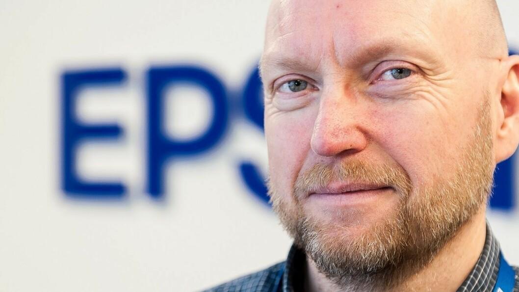 Jan Ove Johansson går fra Sennheiser til Epson, hvor han skal jobbe spesielt med Epsons nye Print365-konsept. Foto: Epson