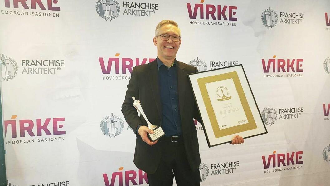 Frank Rune Røvde, franchise-sjef i Elkjøp Norge, var prisvinner da Årets franchisekjede ble kåret. Foto: Gunnar Ervik, Elkjøp