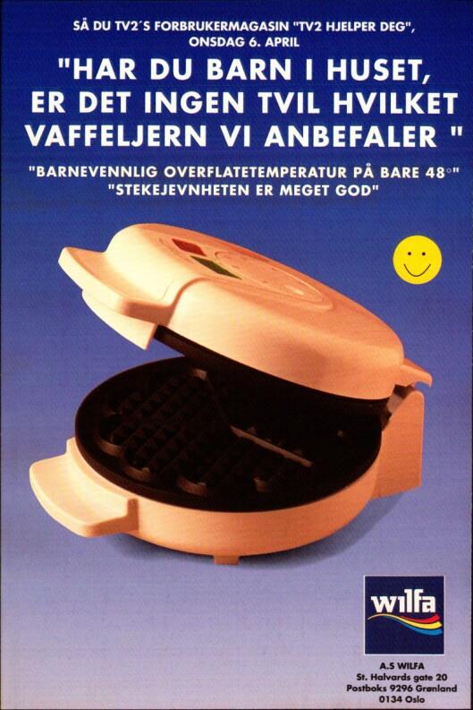Denne annonsen rykket Wilfa inn i fagbladet Elektronikkbransjen nr. 4/1994.