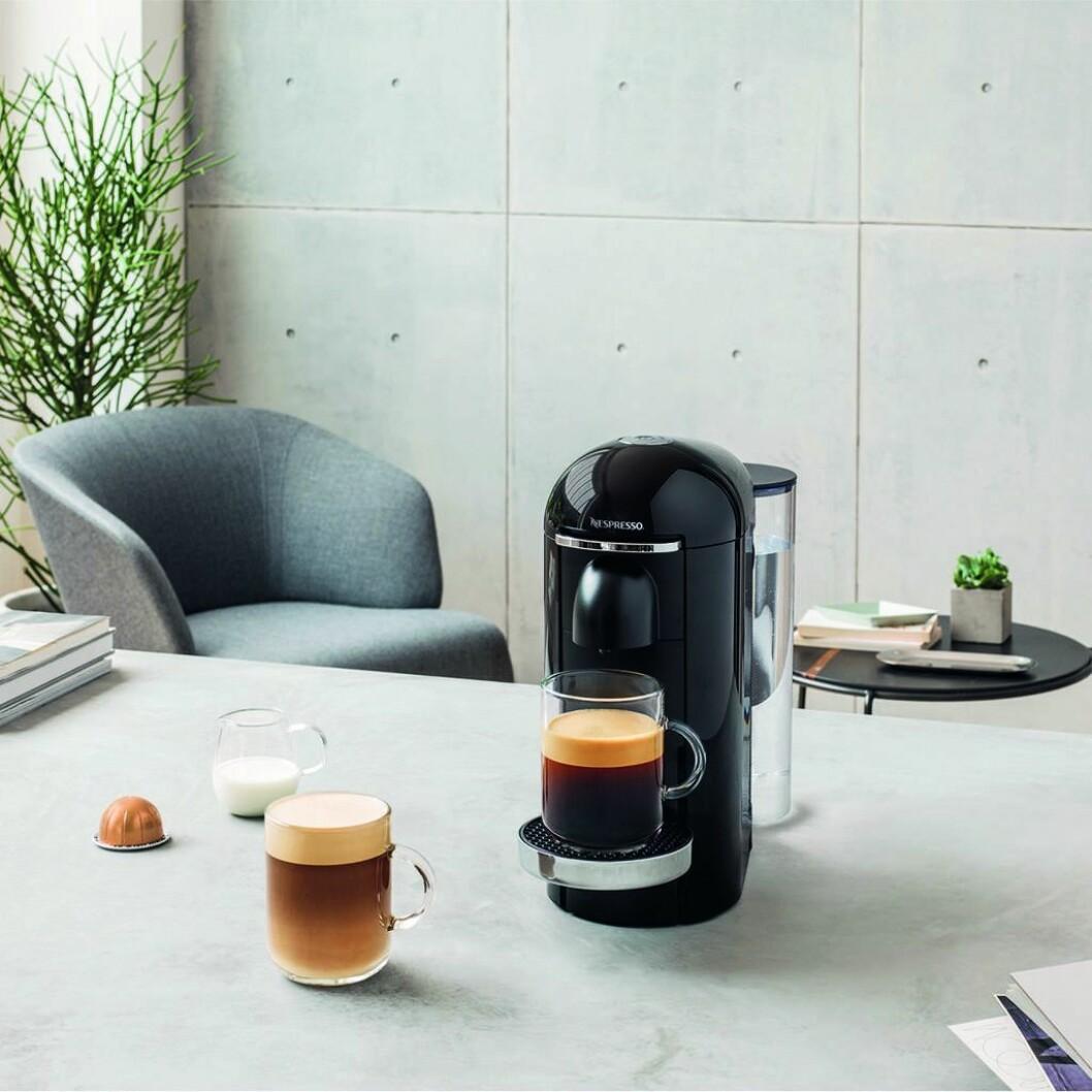 Den nye kapselmaskinen fra Nespresso, Vertuo, har fått helt ny teknologi innenbords. Foto: Nespresso