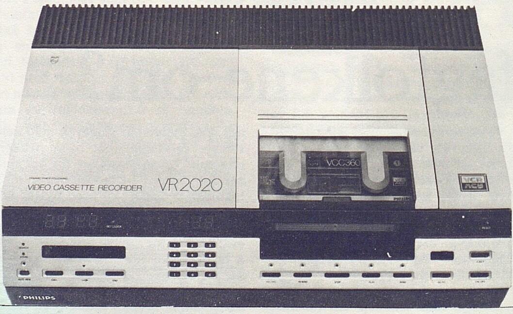 TV-kassettopptakeren Philips VR 2020. Bilde fra Radiobransjen nr. 7/1979.