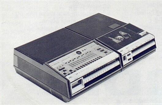 BASFs LVFt-maskin består av to deler, en stasjonær tuner og en bærbar opptaker. Bilde fra Radiobransjen nr. 10/1979.
