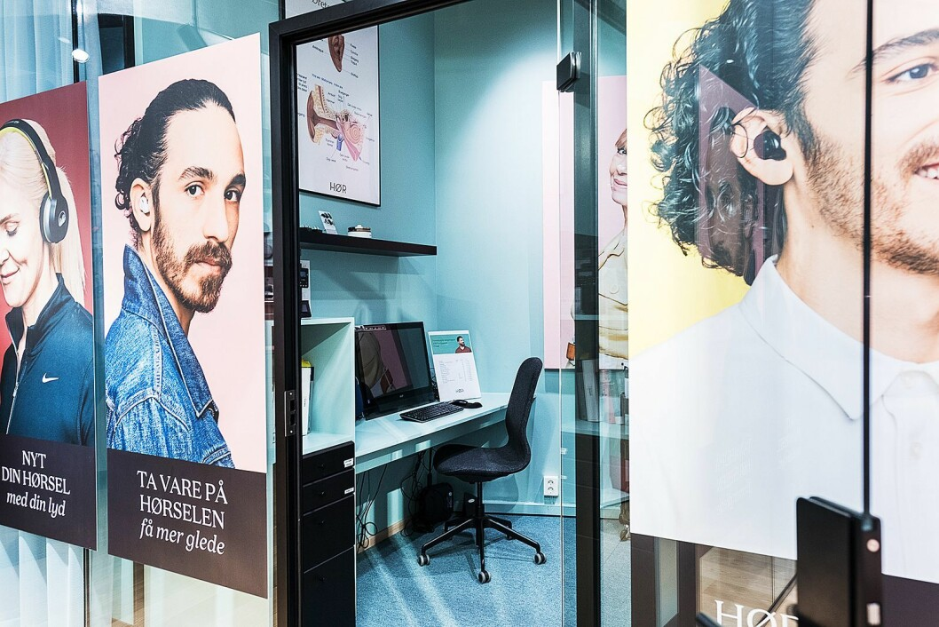 Hør-butikken har egne testrom hvor utdannede audiografer sjekker hørselen din. Foto: Hør