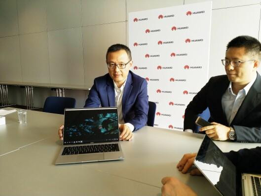Wang Yanmin, sjef for Huawei i Øst-Europa og Norden, sier Norden er verdens mest avanserte marked, og vil jobbe tettere med butikkene framover. Foto: Marte Ottemo.