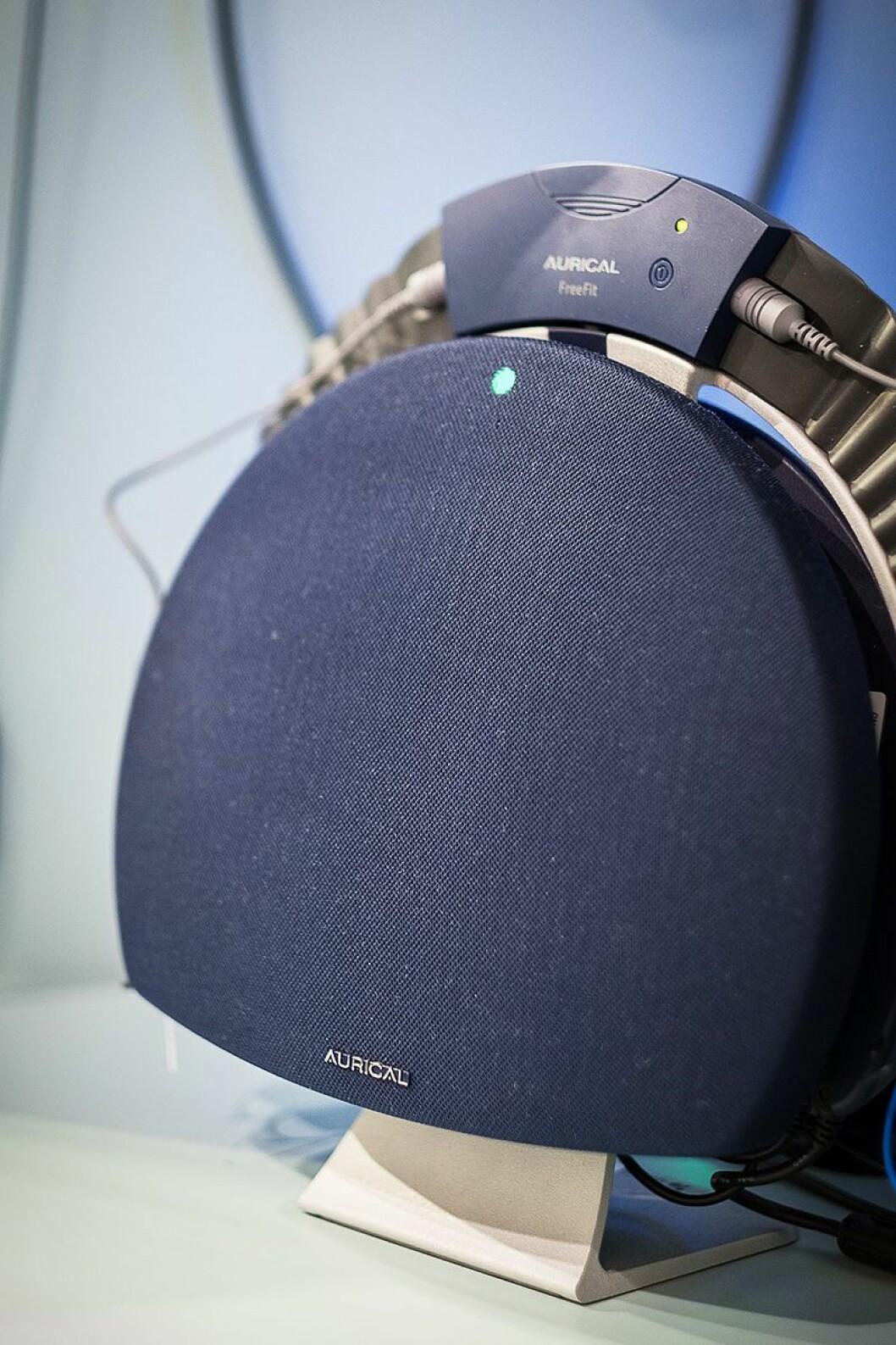 Eget spesialutstyr for audiografene tester hørselen til kunder. Det er mulig både å bestille time, eller stikke innom butikken for en hørselstest. Foto: Hør