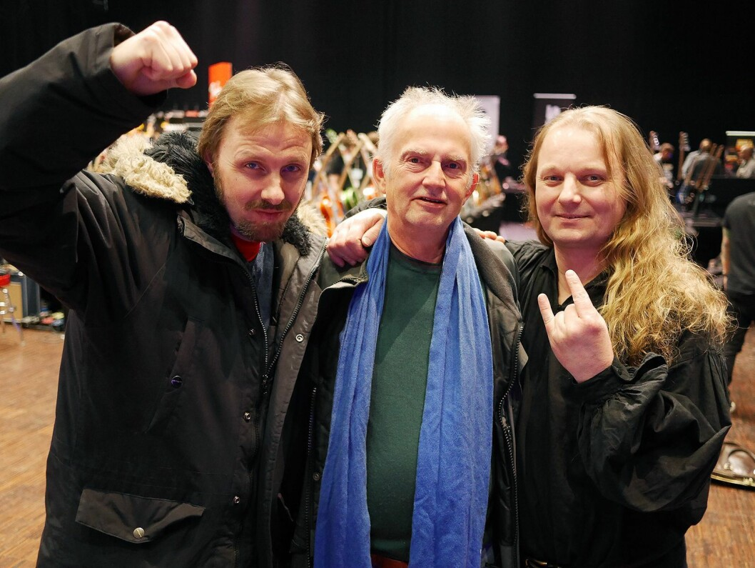 Fra venstre Eivind Staxrud (Raga Rockers, Easy Riders og Los Plantronics), Jan Sverre Braathen (Salt & Pepper Band) og Lars Levin (Green House og Rebel Fuel). Foto: Stian Sønsteng.