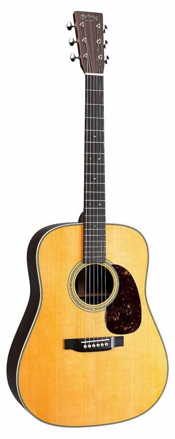 Martin HD-28 er en annen klassisk gitarmodell fra Martin & Co. Pris: 35.000,- Foto: Martin & Co.