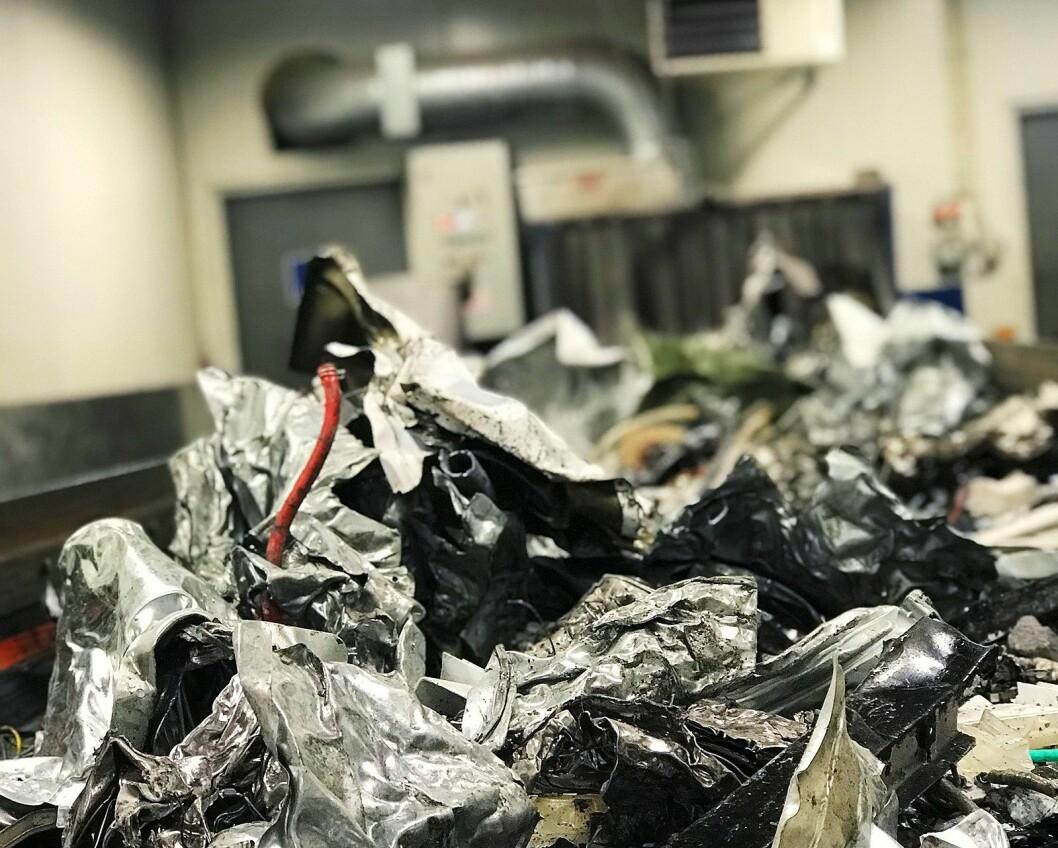 119.000 av de 143.000 tonnene elektrisk og elektronisk (EE) avfall som ble samlet inn i 2017 ble omgjort til råvarer. Foto: Norsirk