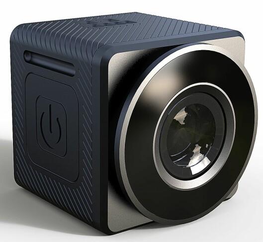 Dashbord-kameraet Xplore C1GEO har full HD, GPS, wifi og blåtann. Størrelse: 32x32x32 mm. Pris: 2.000,- Foto: Xplore.