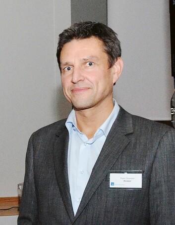 Espen Nylenden i Pioneer & Onkyo Europe GmbH, fotografert i forbindelse med kåringen av årets julegave i 2013. Foto: John Berge.