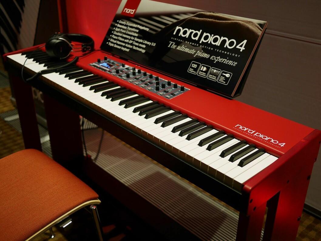 Nord Piano 4 er Clavias fjerde generasjon scenepiano. Pris: 25.000,- Foto: Stian Sønsteng.
