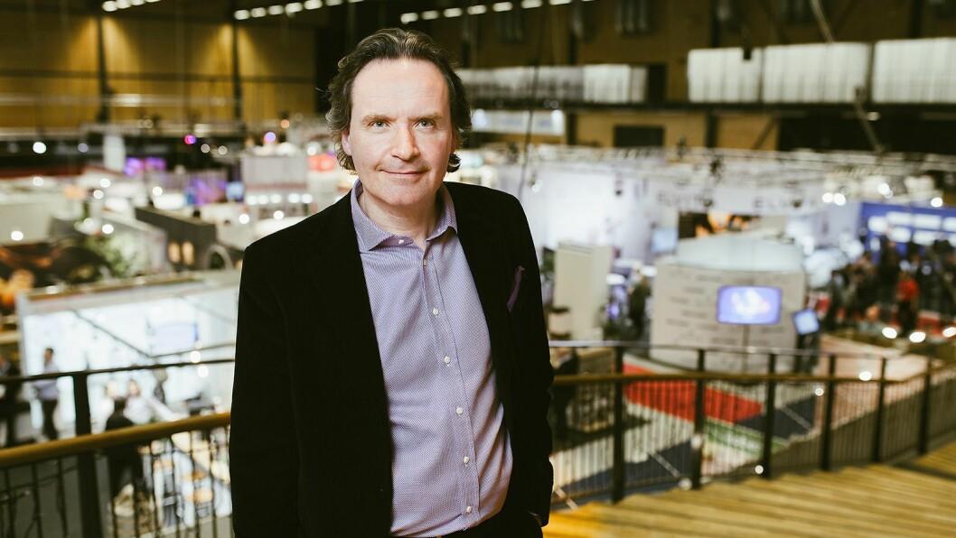 Stefan Lebrot, administrerende direktør og konsernsjef i Elon Group, på Conventum i Ørebro i april 2018. Foto: Robin Andersson