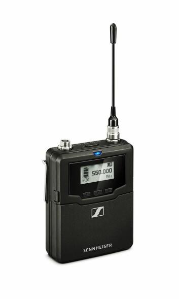 SK 6000 bodypack transmitter er det 74 stykker av i bruk under ESC. Foto: Sennheiser