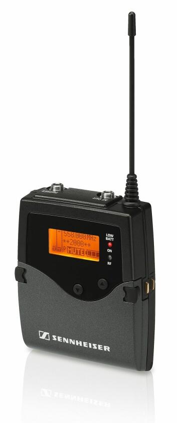 EK 2000 IEM bodypack receiver brukes det 112 av på ESC. Foto: Sennheiser