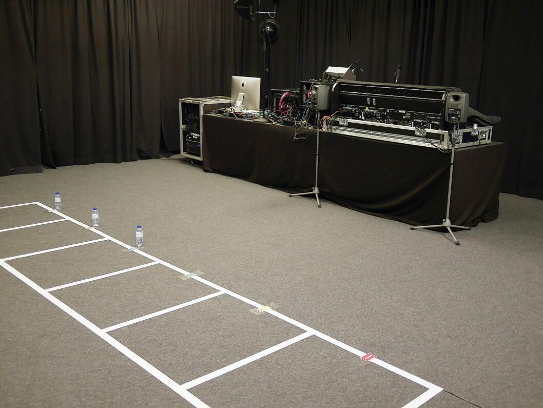 Rommet for lydsjekk ble introdusert under Eurovision av Gaute Nistov i NRK, som var lydsjef under finalen i Oslo i 2010. Foto: Stian Sønsteng