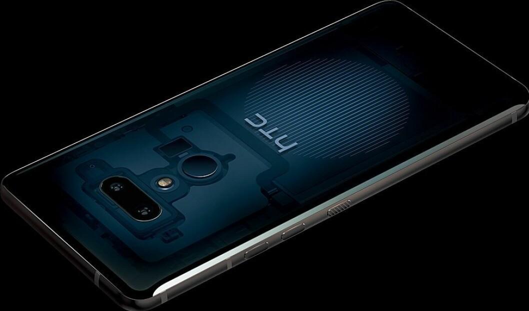 HTC U12+ i fargen Translucent Blue er kun tilgjengelig i HTCs nettbutikk når telefonen kommer i handelen den 18. juni. Foto: HTC