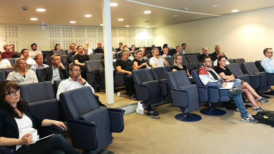 Det ble mange spørsmål fra salen under GDPR-seminaret. Foto: Marte Ottemo.