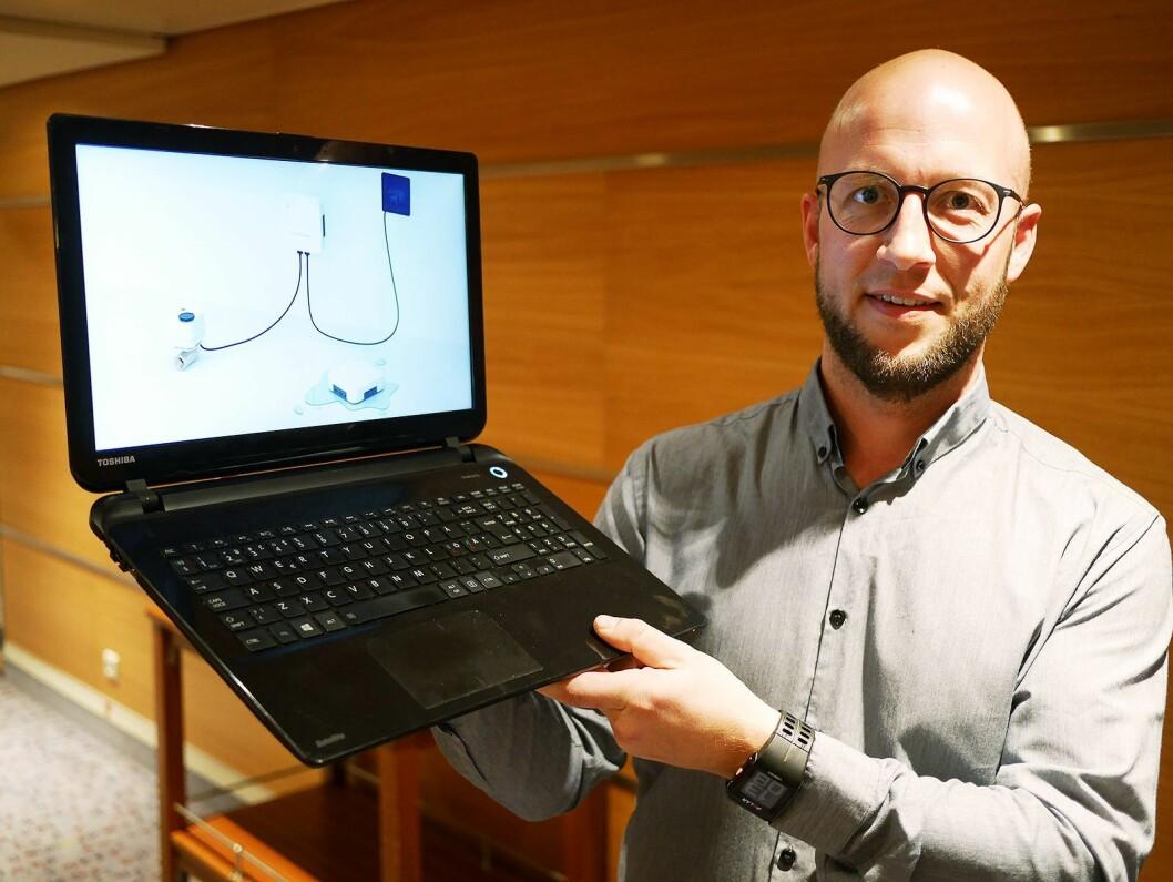 Torbjørn Holden Søgaard i SmartGuard AS, som er søsterselskapet til Senas AS. Foto: Stian Sønsteng