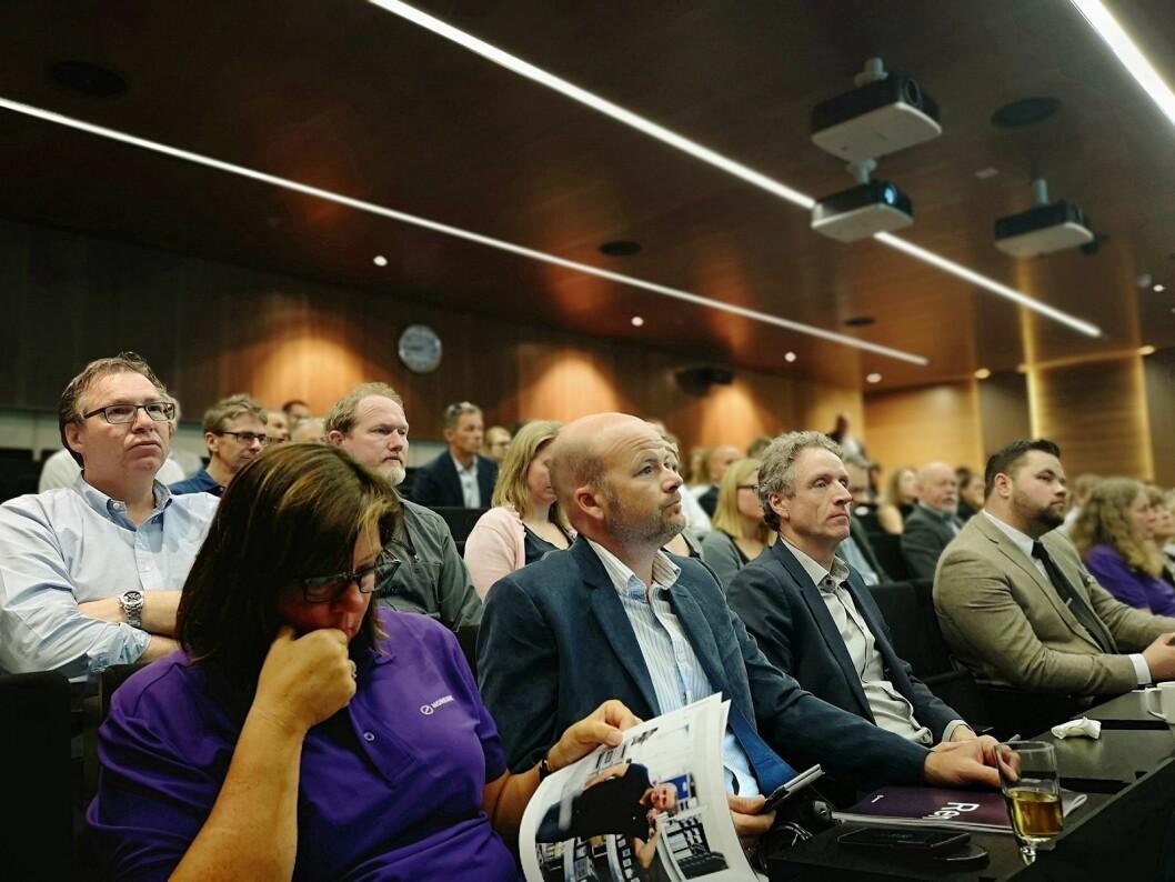 Det var en fullsatt sal som hørte Johan H. Andresen snakke om bærekraft. Foto: Marte Ottemo