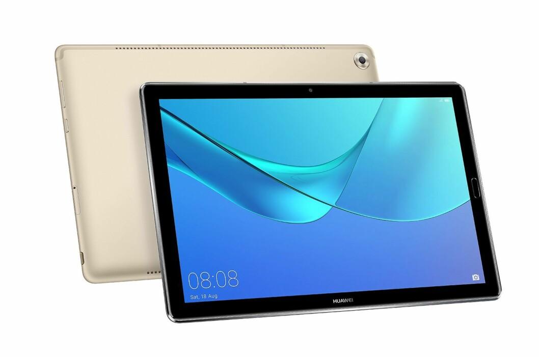 MediaPad M5 med 10,8-tommers skjerm er allerede i handelen. Foto: Huawei.