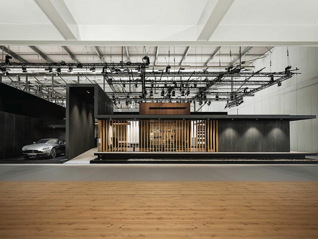 Gaggenau beskrev sin utstilling på følgende vis; A homage to contemporary architectural trends, pure materials, exquisite craftsmanship, and skilled production, is our grand statement. Foto: Gaggenau.