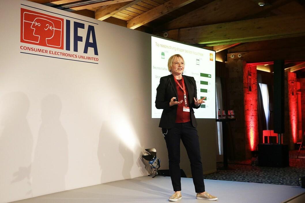 Natalia Andrievskaya er global direktør for hvitevarer i markeds- og analyseselskapet GfK. Foto: IFA