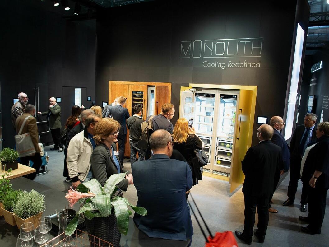 Monolith er et sortiment store skap fra Liebherr som allerede er for salg i USA, og kommer til Norden i 2019. Foto: Ola Larsson.