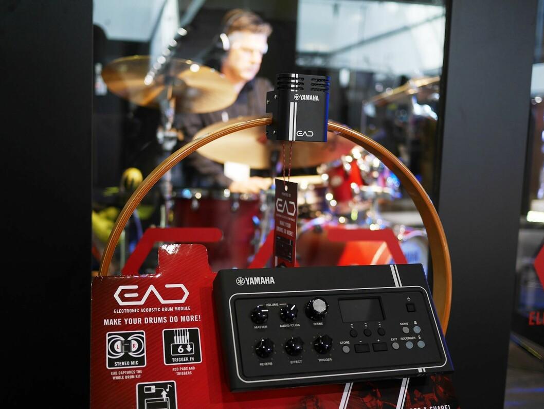 Electronic Acoustic Drum Module (EAD) brukes til å lage et hybridtrommesett, der man kan få digitale lyder på sitt akustiske trommesett. Pris: 6.200,- Foto: Stian Sønsteng.