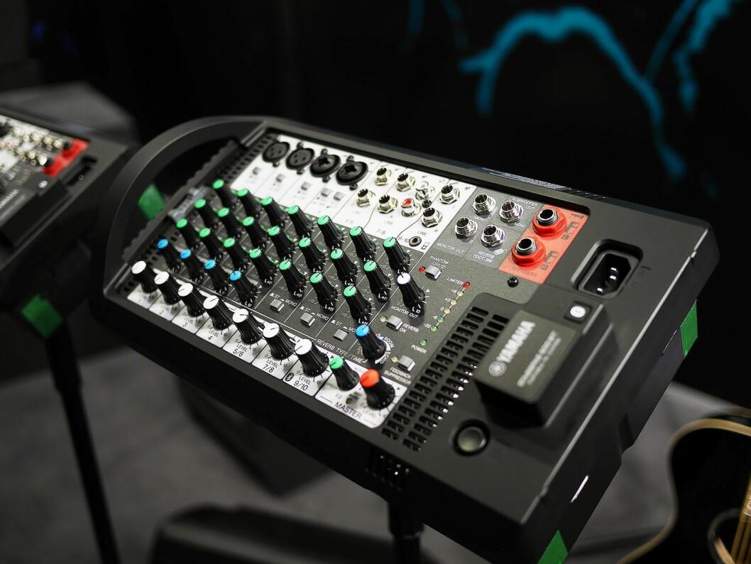Mikseren som følger med Stage Pass, Yamahas kompakte høyttalersystem, nå med blåtann. Pris: 6.500,- og 10.500,- Foto: Stian Sønsteng.