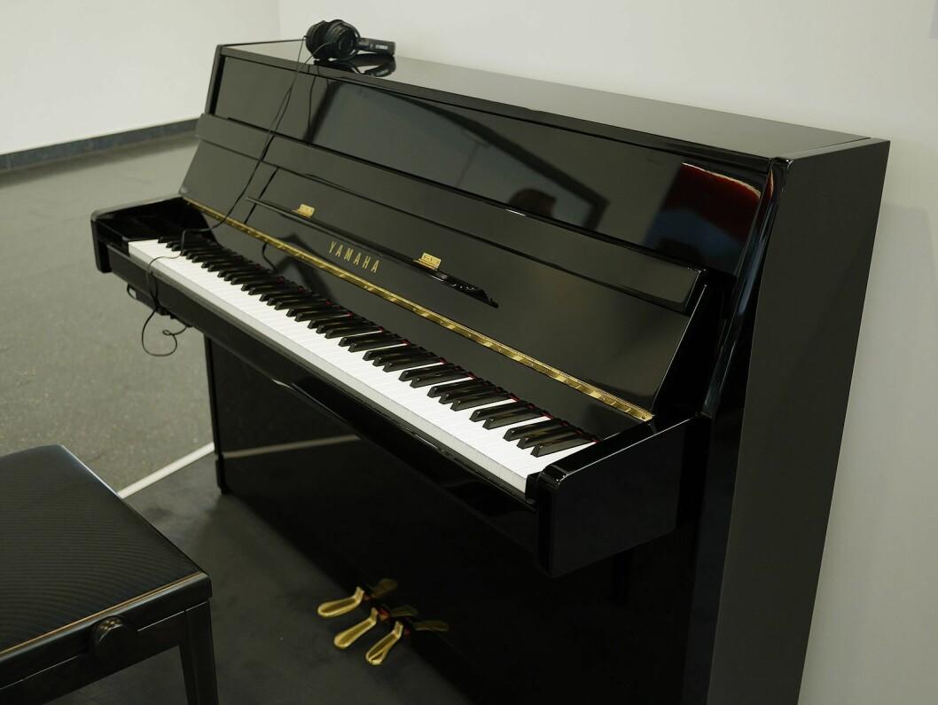 Yamaha B1SC2 er et Silent Piano, 109 centimeter høyt. Pris: 53.000,- Foto: Stian Sønsteng.