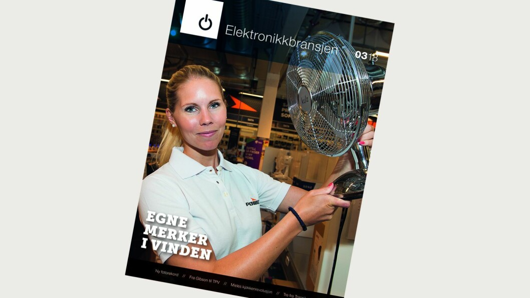 Fagbladet Elektronikkbransjen nr. 3/2018 distribueres fra onsdag 13. juni, og er på 140 sider.