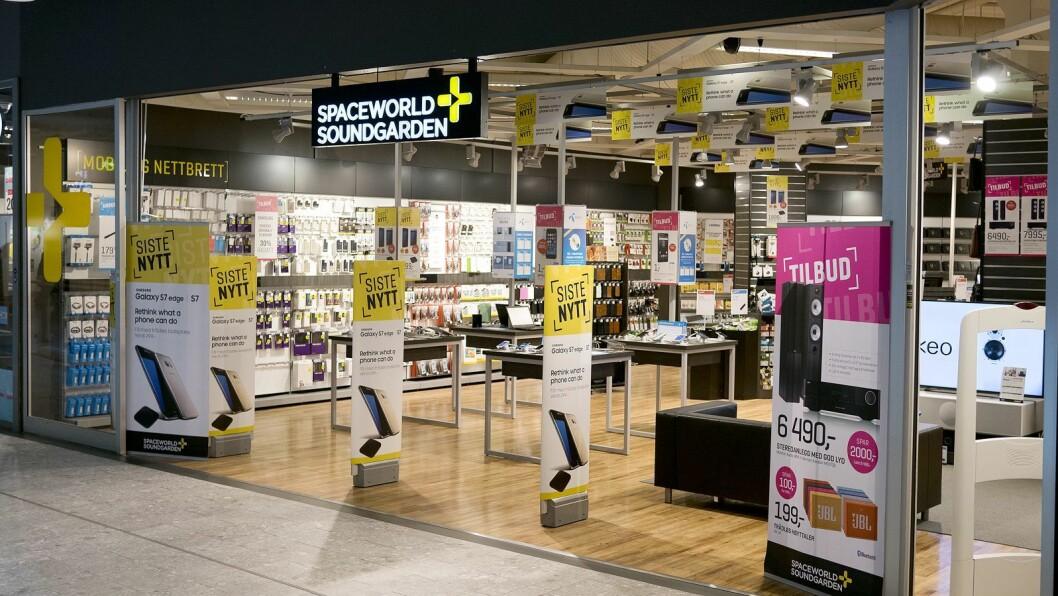Spaceworld Soundgarden i Ski storsenter er blant butikkene som blir med videre i den nye kjeden Soundgarden.no. Foto: Stian Sønsteng