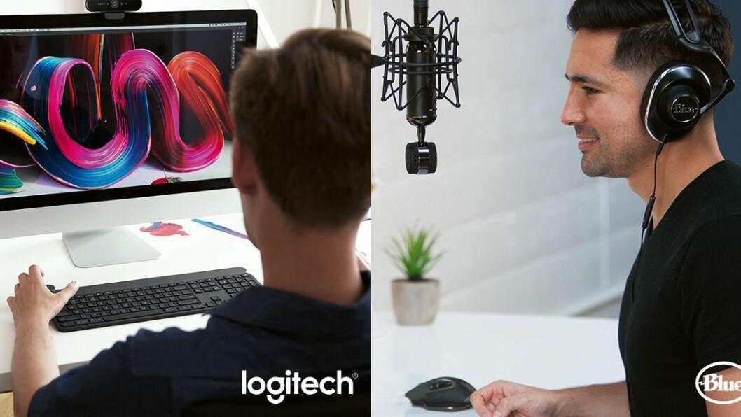 Slik illustreres det at Logitech har kjøpt Blue Microphones. Foto: Blue Microphones