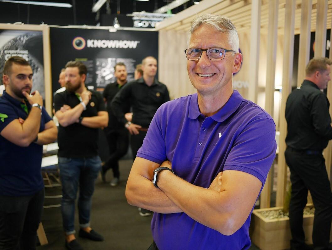 Ettermarkedsdirektør i Elkjøp Nordic, Lorentz Jacobsen, har drøyt 4.000 medarbeidere i konsernet. Her er han på ELbit, under Campus-arrangementet i juni. Foto: Stian Sønsteng