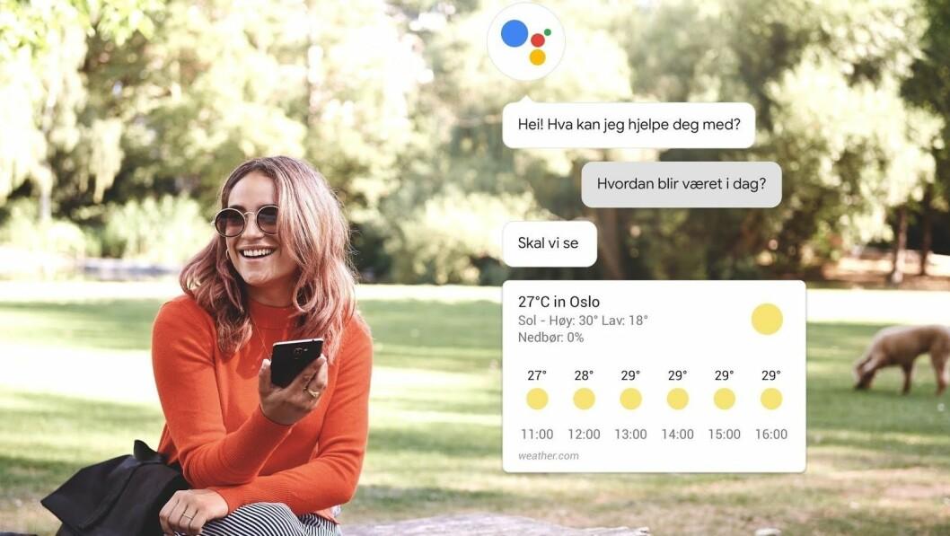 Fra og med i dag kan du snakke med Google på norsk. Foto: Google