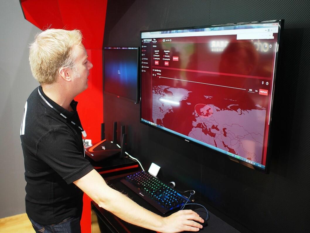 På et kart kan brukeren begrense nedslagsfeltet til ruteren. Foto: Jan Røsholm
