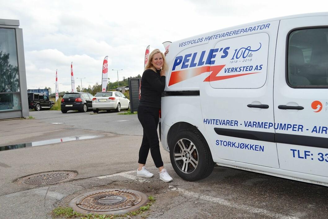 Maria Kjærlid er ny daglig leder i Pelle's verksted i jubileumsåret. Foto: Pelle's verksted