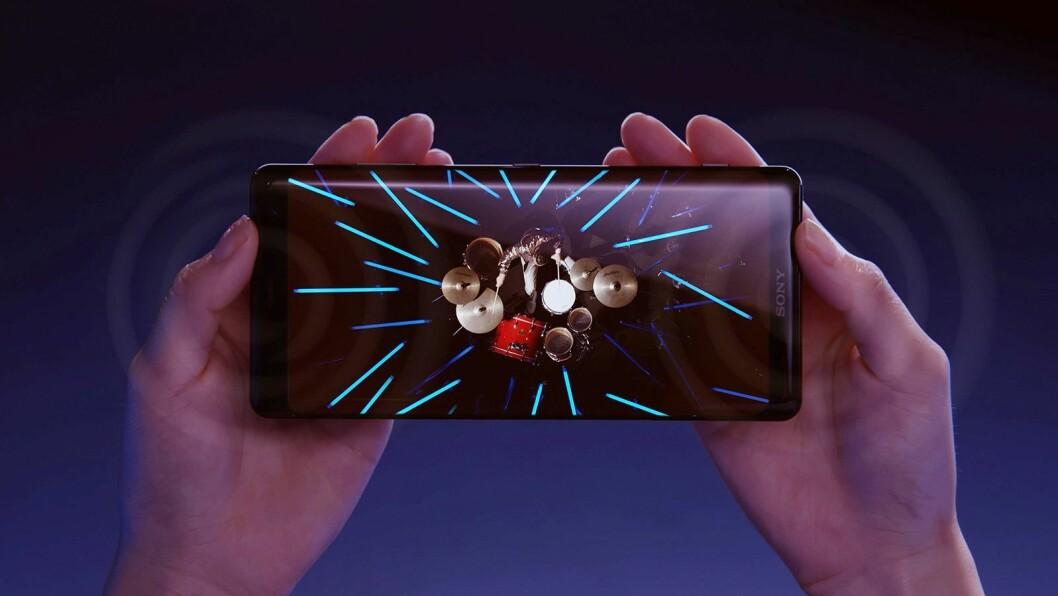 Sony avduket den nye flaggskipmodellen Xperia XZ3 under årets IFA-messe, og det er selskapets første mobil med oled-skjerm. Foto: Sony