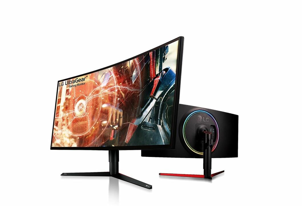LG lanserer sine monitorer på det nordiske markedet, her representert ved gaming-skjermen Ultragear 34GK950G. Foto: LG.