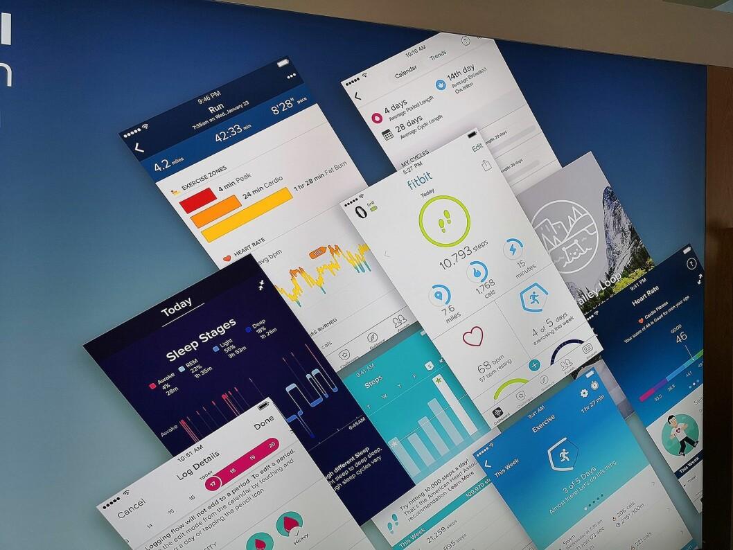 Fitbit mener deres app og funksjoner som guidet trening via telefonen er en av årsakene til at mange velger nettopp deres produkter. Foto: Marte Ottemo