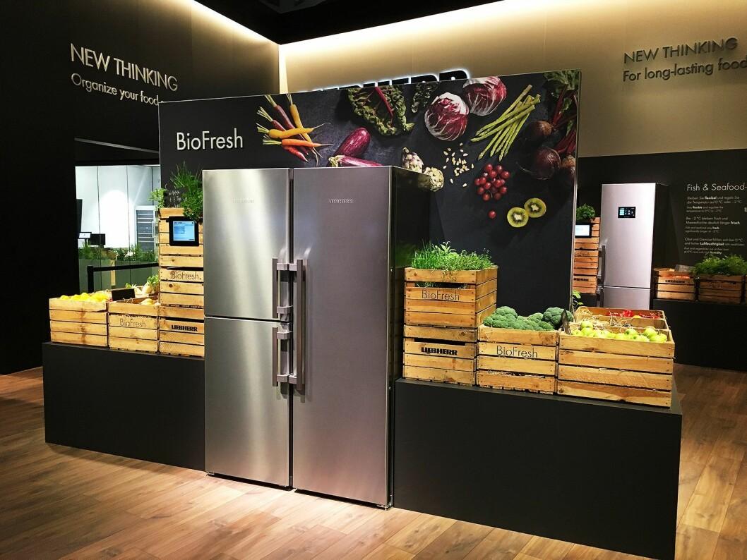 Liebherr hadde fokus på matsvinn og «New thinking» på årets IFA-messe. Foto: Liebherr