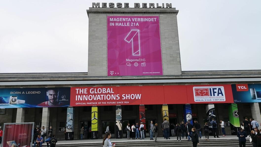 Fredag kl. 10 åpnet Messe Berlin dørene for IFA-messen. Foto: Marte Ottemo.