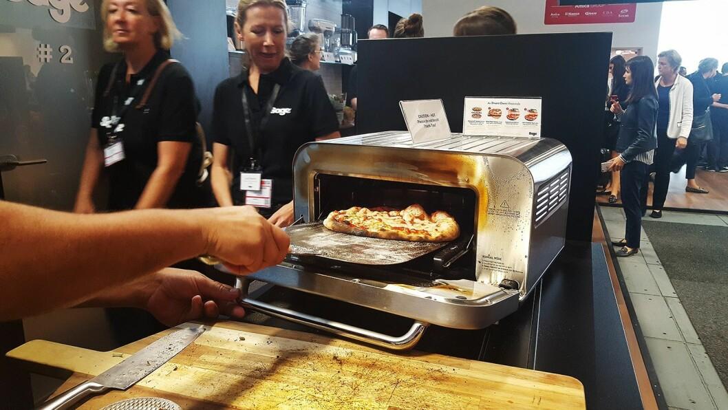 Den nye pizzaovnen fra Sage steker italiensk pizza på to minutter. Foto: Cathrine Pedersen.