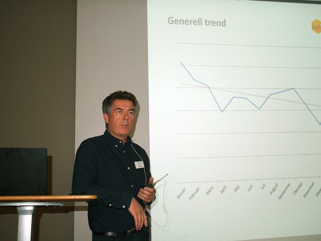Ole Soleng fra Komplett var en av foredragsholderne. Foto: Jan Røsholm.