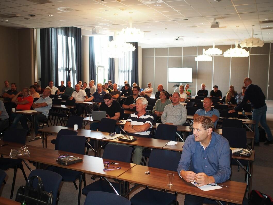 Noen av de 160 deltakerne som deltok på Elescos høstmøte i Tønsberg. Foto: Jan Røsholm.