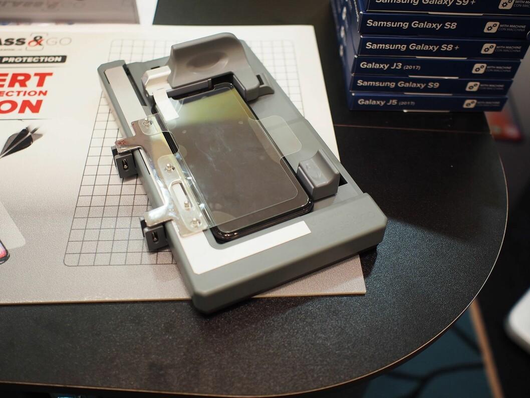 Glass & Go-maskinen fra Cellularline. Foto: Jan Røsholm.