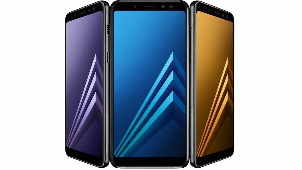 Samsung Galaxy A8 (2018) er kåret til «Årets budsjettmobil 2018/2019». Foto: Samsung