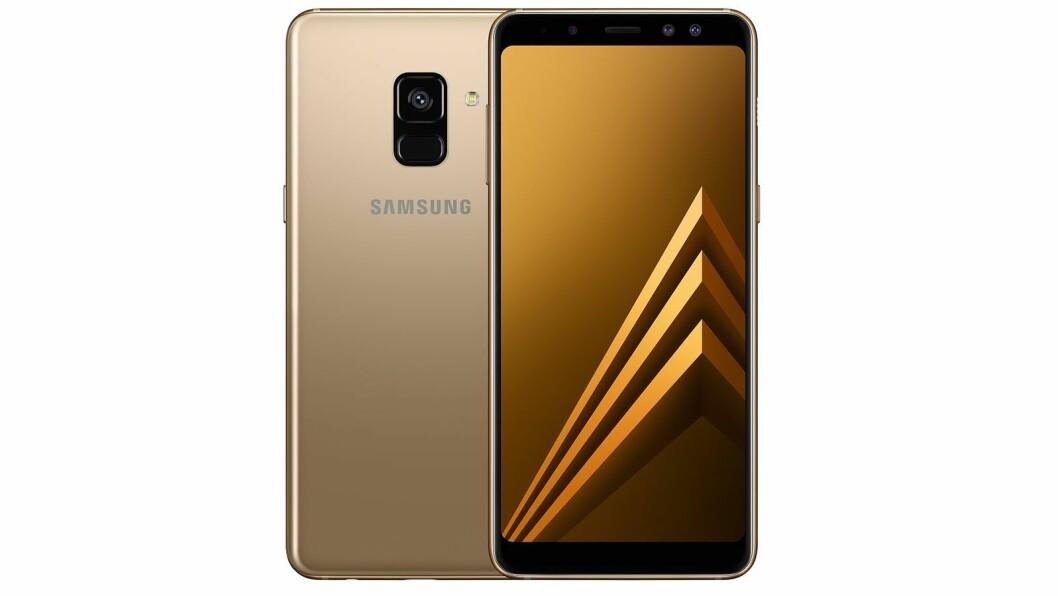 Samsung Galaxy A8 (2018) er kåret til «Årets budsjettmobil 2018/2019». Foto: Samsung.