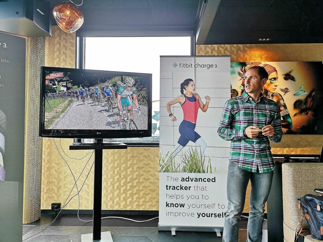 Ekspertkommentator i TV 2, Mads Kaggestad, slår et slag for at fysisk aktivitet også bidrar til mental helse. Foto: Marte Ottemo