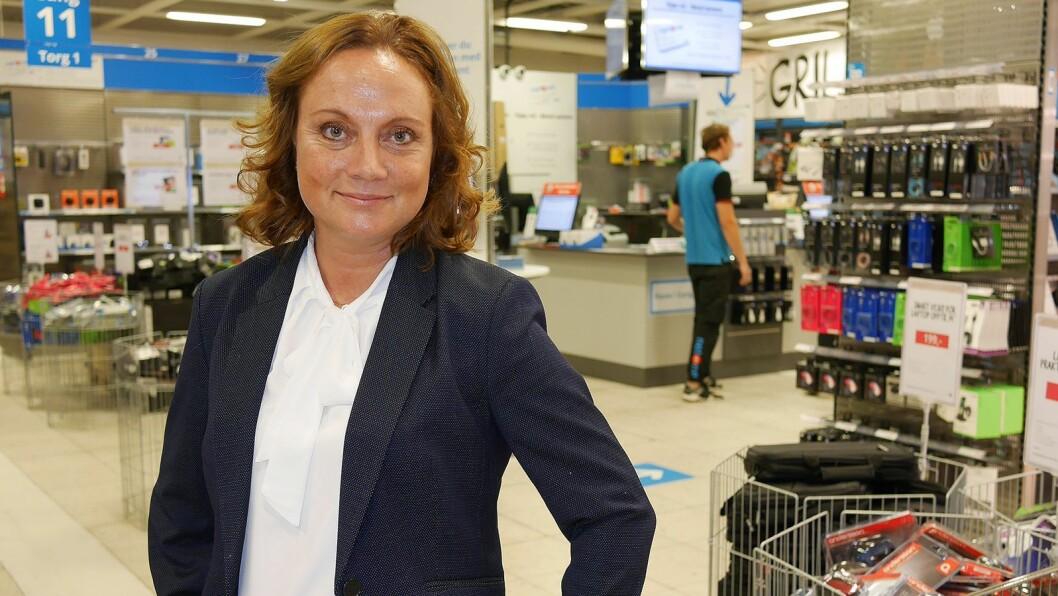 Administrerende direktør i NetOnNet, Susanne Holmström, kan vise til vekst i sitt første år i sjefsstolen. Foto: Stian Sønsteng